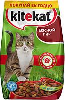 Kitikat (Китикет) cухой корм для взрослых кошек Мясной пир 13 кг
