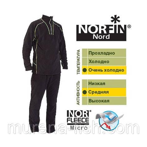 Термобелье Norfin Nord (M/48-50) черное Норфин норд, фото 2