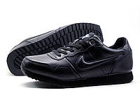 Кроссовки зимние Найк Airmax, мужские, на меху, черные, фото 1