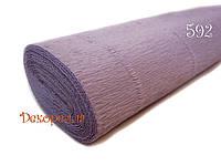 Гофрированная бумага, Италия (592 светло фиолетовый)