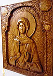 "Икона деревянная ""Св. Муч. Наталия"" (30х23см дуб), фото 2"