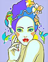 Раскраска по номерам Колибри (RS-N0001324) 35 х 45 см