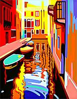 Картина-раскраска Город на воде (RS-N0001325) 35 х 45 см