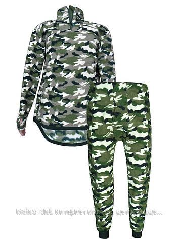 Теплое нательное белье мужское флис  188KAY-комплект +ширинка,в наличии камуфляж 180-190 рост, фото 2