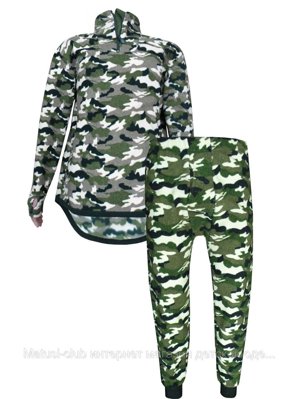 Теплое нательное белье мужское флис  188KAY-комплект +ширинка,в наличии камуфляж 180-190 рост - Matusi-club интернет магазин детской одежды в Киеве