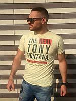 """Футболка мужская хлопковая с принтом """"Real Tony"""""""