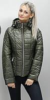 Женская демисезонная куртка КМ-1 хаки 54-74 размеры