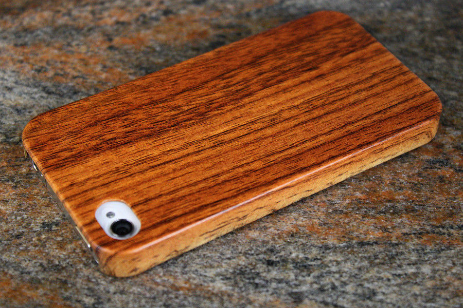 Роскошный чехол под дерево iPhone 4/4S + плёнка
