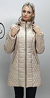 Женская весенняя куртка большой размер КМ-11 бежевая 40-74 размеры