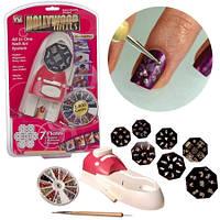 Набор машинка принтер штамп для дизайна ногтей стемпинга Hollywood Nails /  Голливудские ногти