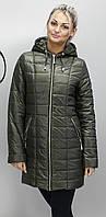 Женская демисезонная куртка КР-12 хаки  42-74 размеры