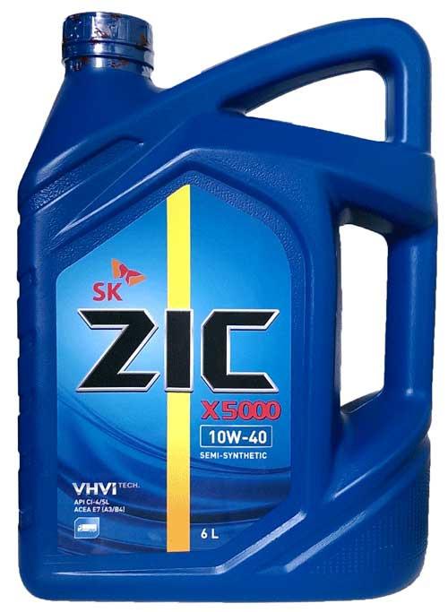 Моторное масло ZIC X5000 10w40 6л.