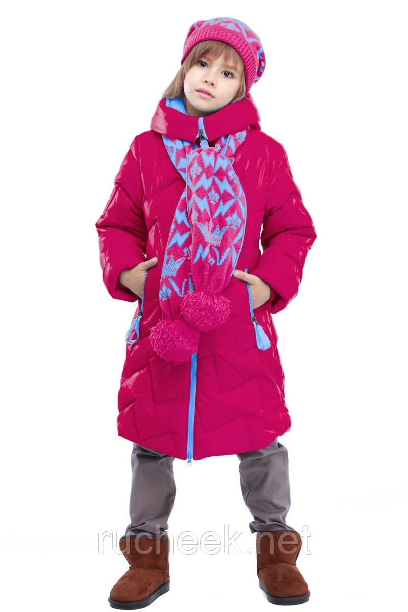 Куртка зимняя с шарфиком Ярина на девочку рост 116, 122, 128,152, 158, Украина - Интернет-магазин Ручеек - детская и женская одежда в Днепропетровской области