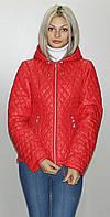 Женская демисезонная куртка КС-2  красная  40-52 размеры