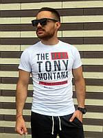 """Футболка мужская из хлопка белая """"Tony"""""""