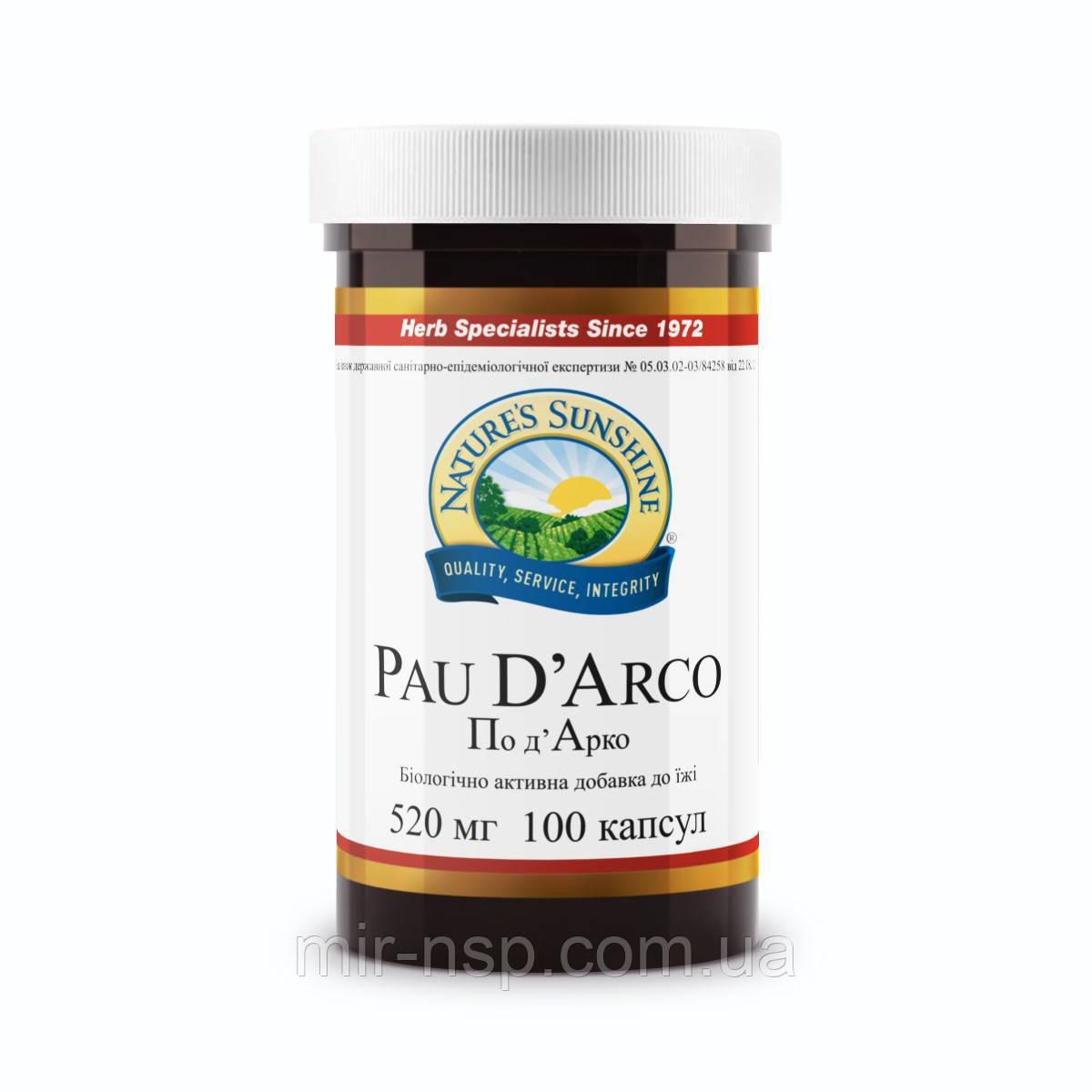 По д'Арко (подарко, пау дарко, пау д'арко, кора муравьиного дерева, pau d'arco) бад НСП
