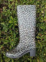 Сапоги женские силиконовые на каблуке Литма