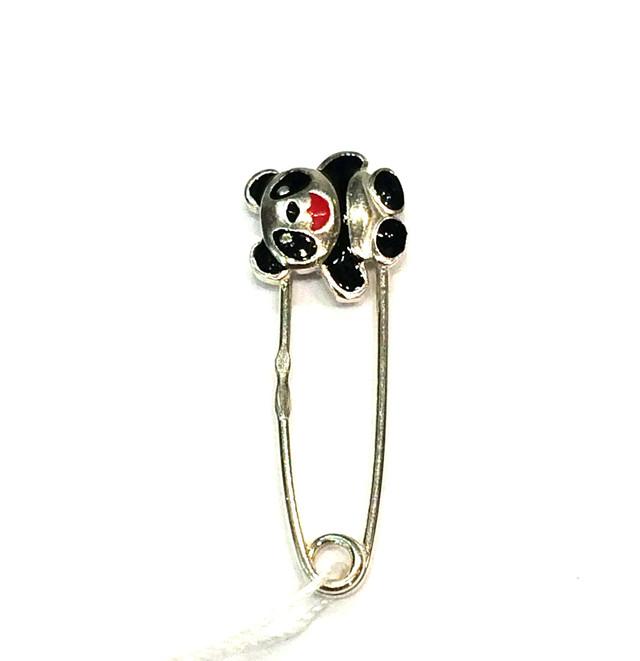 Серебряная булавка Панда