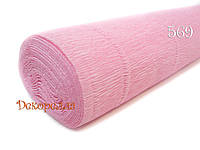 Гофрированная бумага, Италия (569 бледно розовый)