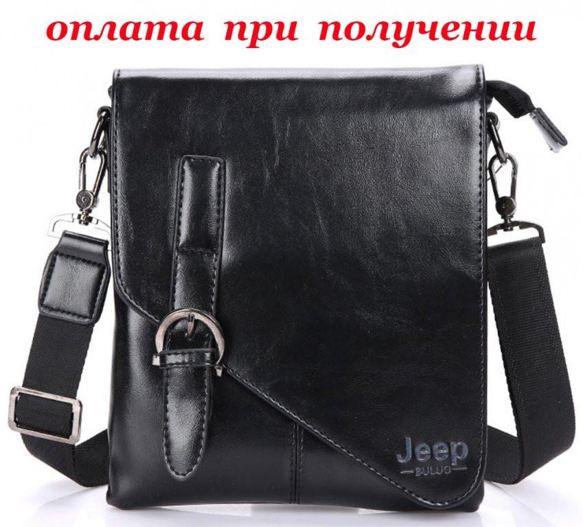 Мужская кожаная сумка планшетница бренд Jeep