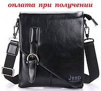 Мужская кожаная сумка планшетница бренд Jeep, фото 1
