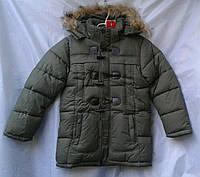 Куртка зимняя детская  для мальчика 10-14 лет,хаки