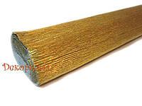 Гофрированная метализированная бумага, Италия (801 - золото)