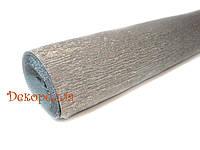 Гофрированная метализированная бумага, Италия (802 - серебро)