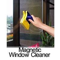 Магнитная щетка для мытья окон с двух сторон Cleaning Double Side Glass Cleaner Дабл Сайд Глас Клинер, фото 1