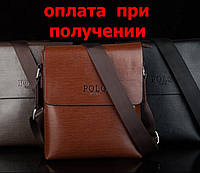 Чоловіча шкіряна фірмова сумка Polo (9012) NEW!, фото 1