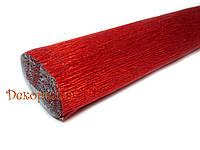 Гофрированная метализированная бумага, Италия  (803 - красный)