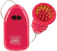 Клиторальный вибратор PLEASURE KISS AROUSER - PINK, 9 см.