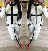 Женский белый спортивный костюм разм 42,44,46,48