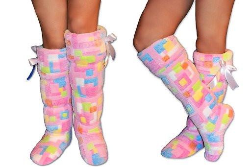 Тапочки махровые ботфорты, домашняя обувь для дома, прикольные тапочки -  ИНТЕРНЕТ-МАГАЗИН
