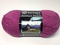 Пряжа alpaca polo - цвет малиновый