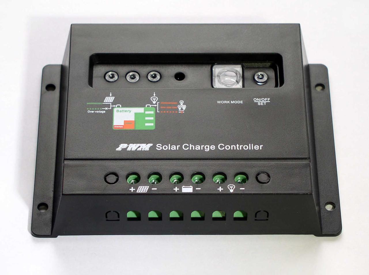 Контроллер заряда-разряда 30А 12/24V (авторежим, настройки освещения) для солнечных панелей