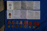 Комплект медалей с док. на одного 8 шт Рябчук М М