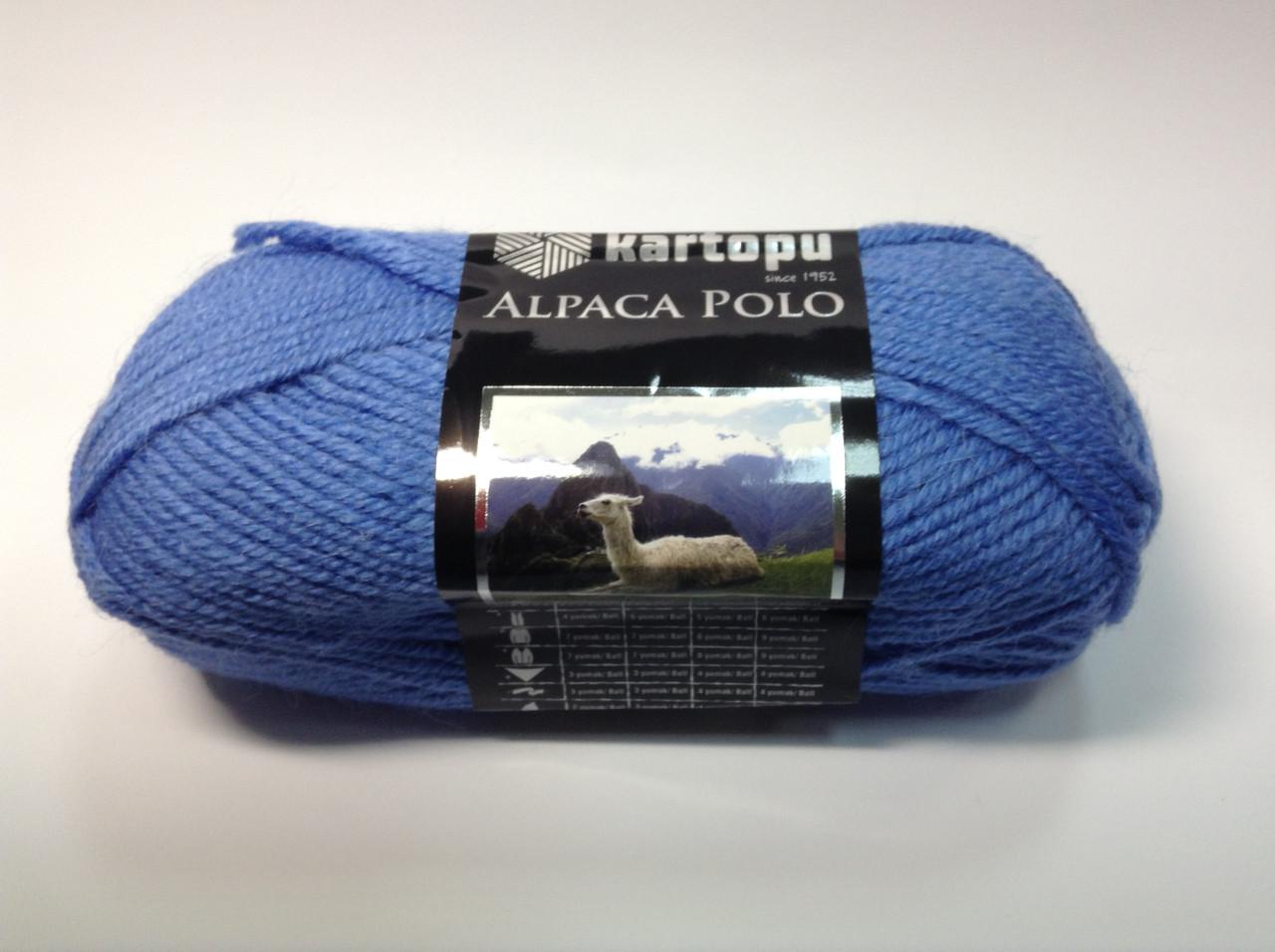 Пряжа alpaca polo - колір синій