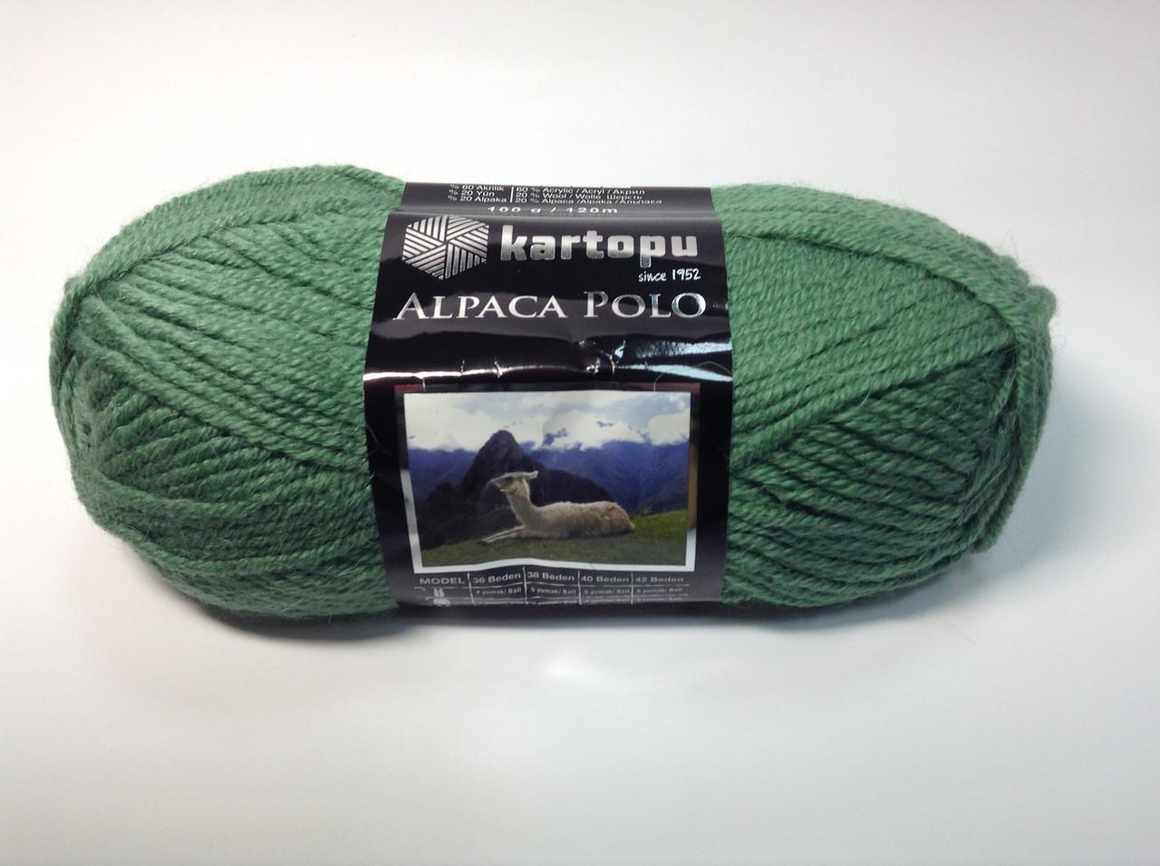 Пряжа alpaca polo - цвет зеленый
