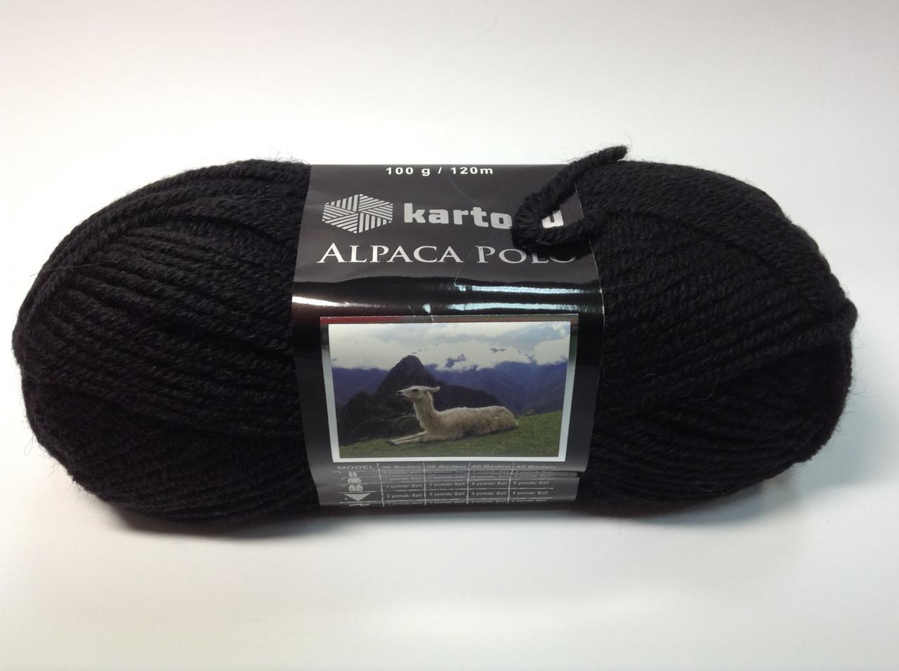 Пряжа alpaca polo - цвет черный