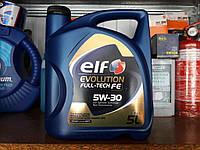 Синтетическое моторное масло ELF Evolution Full-Tech FE 5w30 C4 (5 л) допуск RN0720
