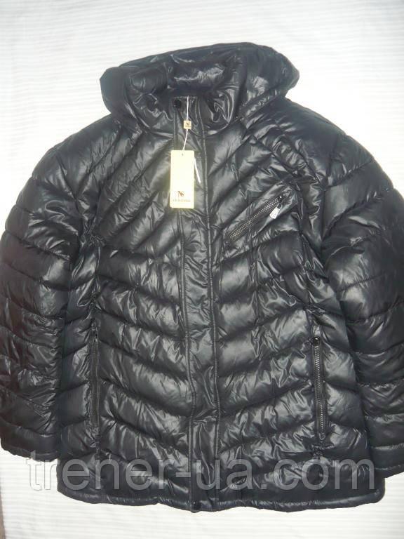Куртка зимова чорна Venidise/куртка батал/зимова куртка 58 розмір/куртка великий розмір