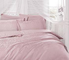 Жаккардовое постельное белье Deco Bianca Ornament пудра