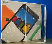 Силиконовый прозрачный чехол для Microsoft Lumia 535