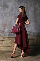 Платье ассиметрия на один бок 42 44 46 48 50 52 Р, фото 1