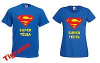 Парные футболки подарок Теща Тесть для родителей
