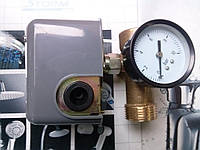 Реле давления H-World, пятерник и манометр.