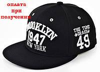 Чоловіча кепка, Snapback з прямим козирком, бейсболка, рэперка BROOKLYN 1947 NY, фото 1