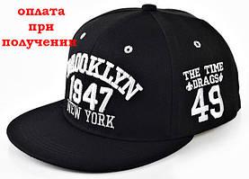 Чоловіча кепка, Snapback з прямим козирком, бейсболка, рэперка BROOKLYN 1947 NY