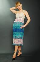 Сарафан женский летний , Пл 036, одежда для полной молодежи, летнее платье для беременных. M / 46